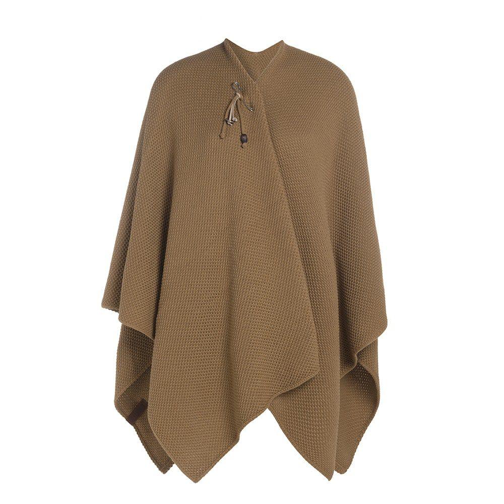knit factory 1236120 jazz omslagvest new camel 1