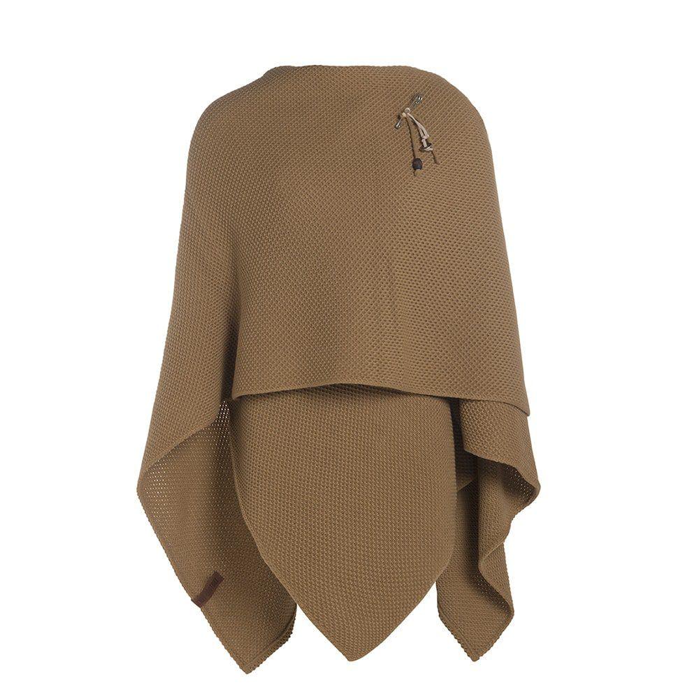 knit factory 1236120 jazz omslagvest new camel 2