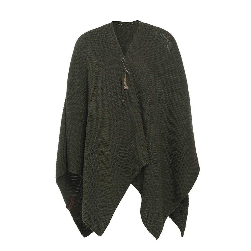 knit factory 1236125 jazz omslagvest khaki 1
