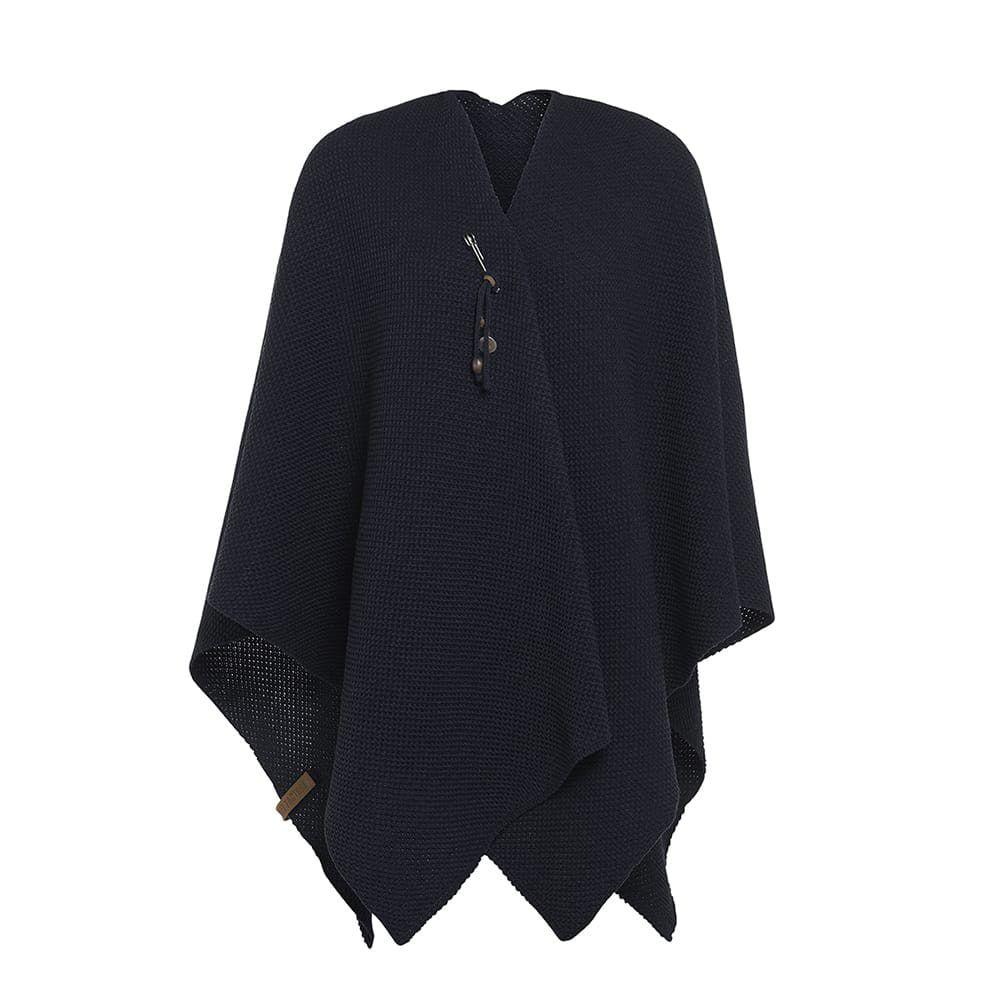 knit factory 1236126 jazz omslagvest navy 1