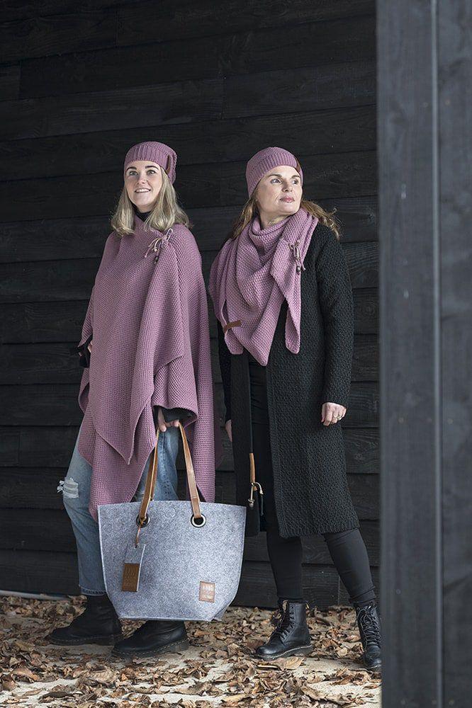 knit factory 1236127 jazz omslagvest lila 3