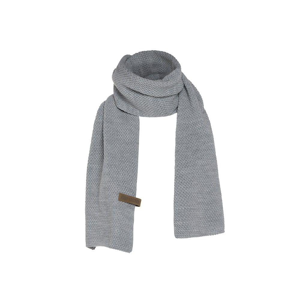 knit factory 1236511 jazz sjaal grijs 1