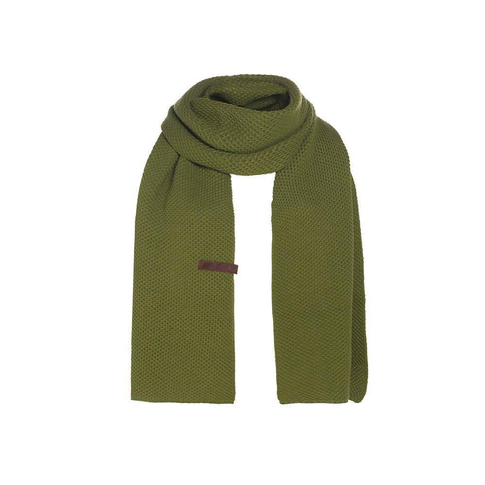 knit factory 1236515 jazz sjaal mosgroen 1