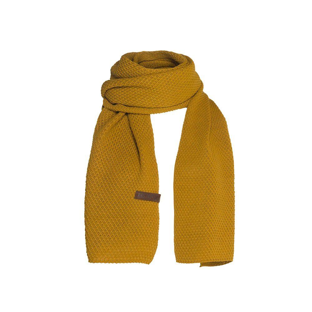knit factory 1236517 jazz sjaal oker 1