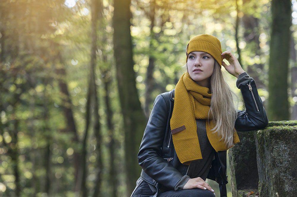 knit factory 1236517 jazz sjaal oker 3