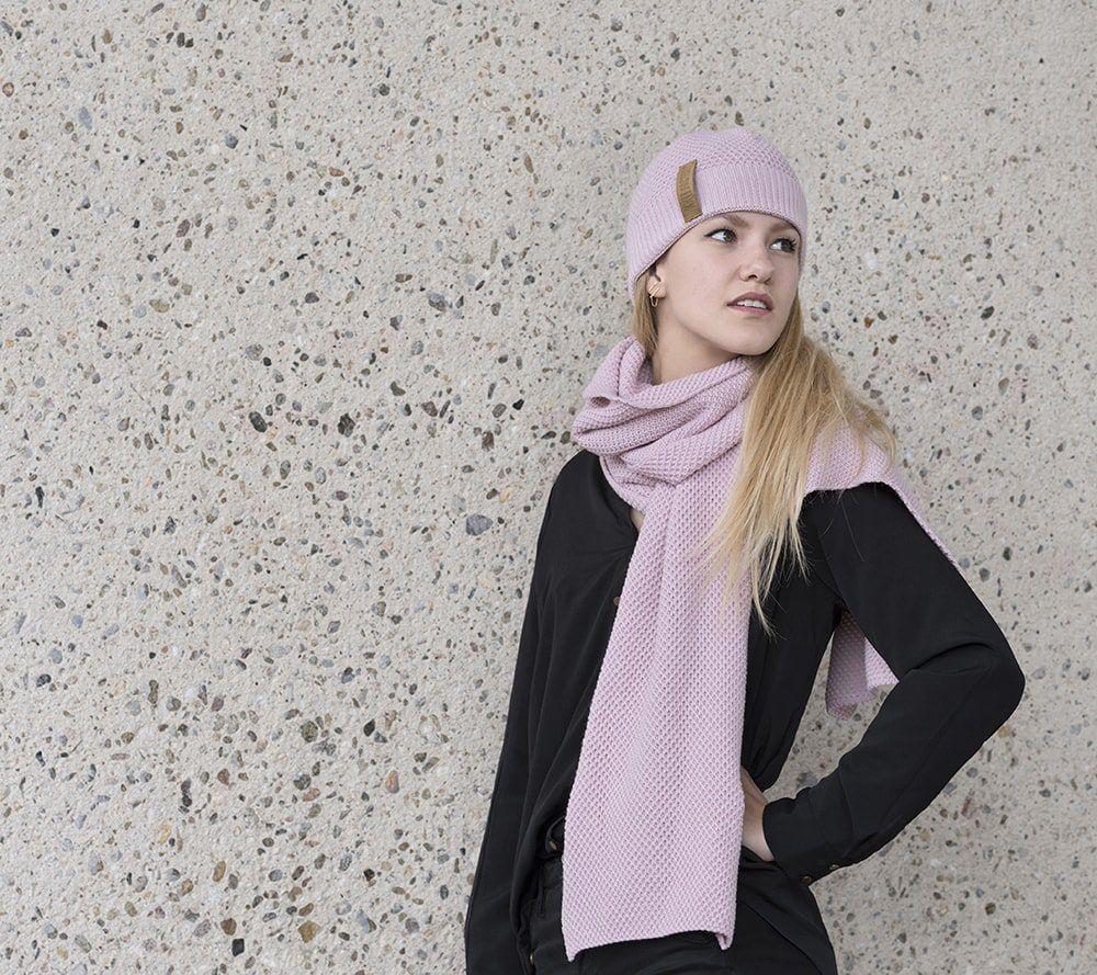 knit factory 1236521 jazz sjaal roze 2