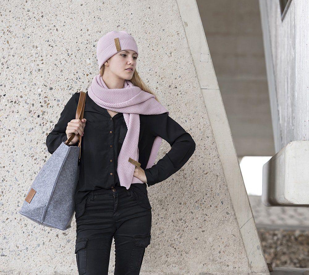 knit factory 1236521 jazz sjaal roze 3