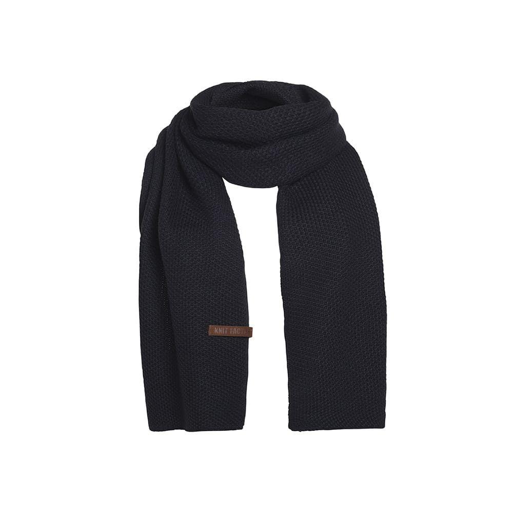 knit factory 1236526 jazz sjaal navy 1