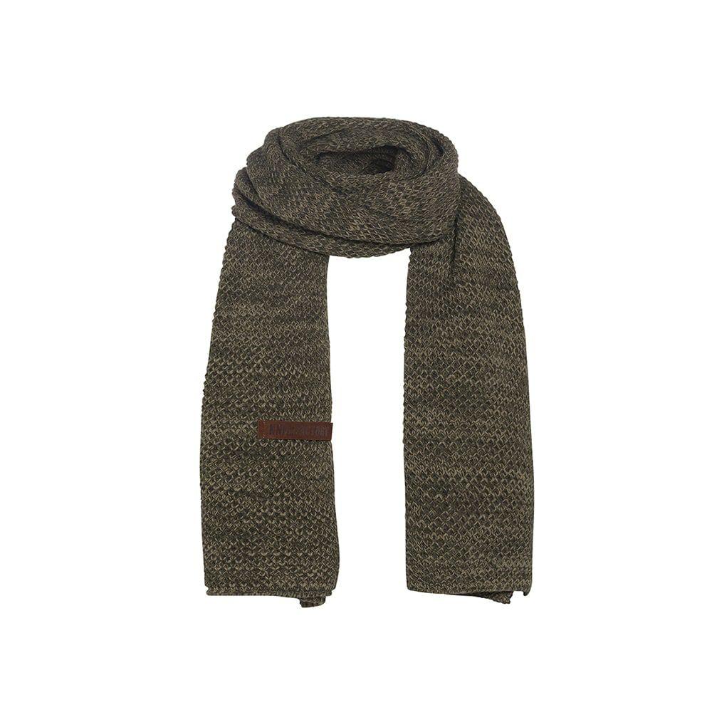 knit factory 1236544 jazz sjaal groen olive 1