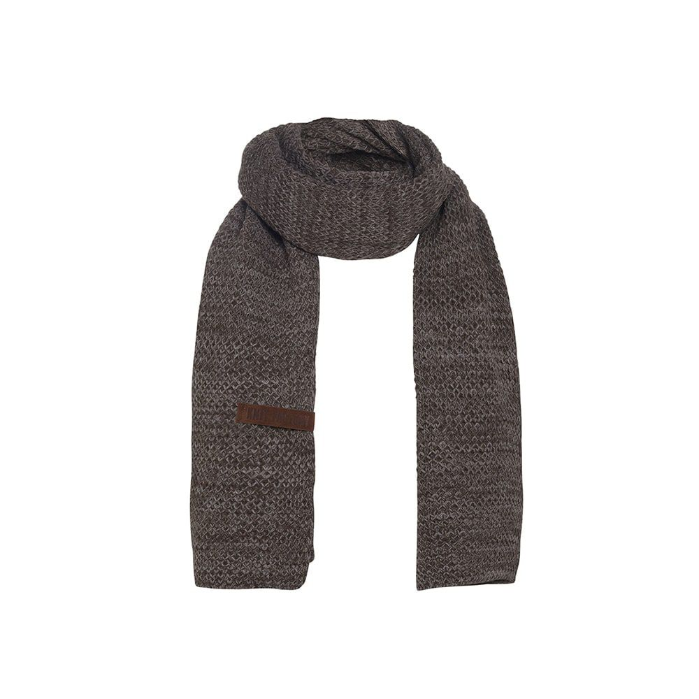 knit factory 1236548 jazz sjaal bruin taupe 1