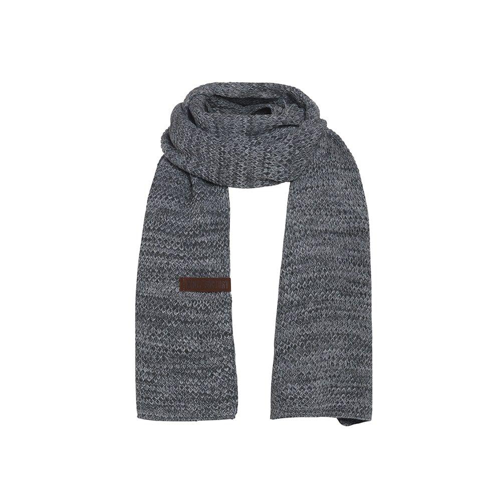 knit factory 1236550 jazz sjaal antraciet grijs 1