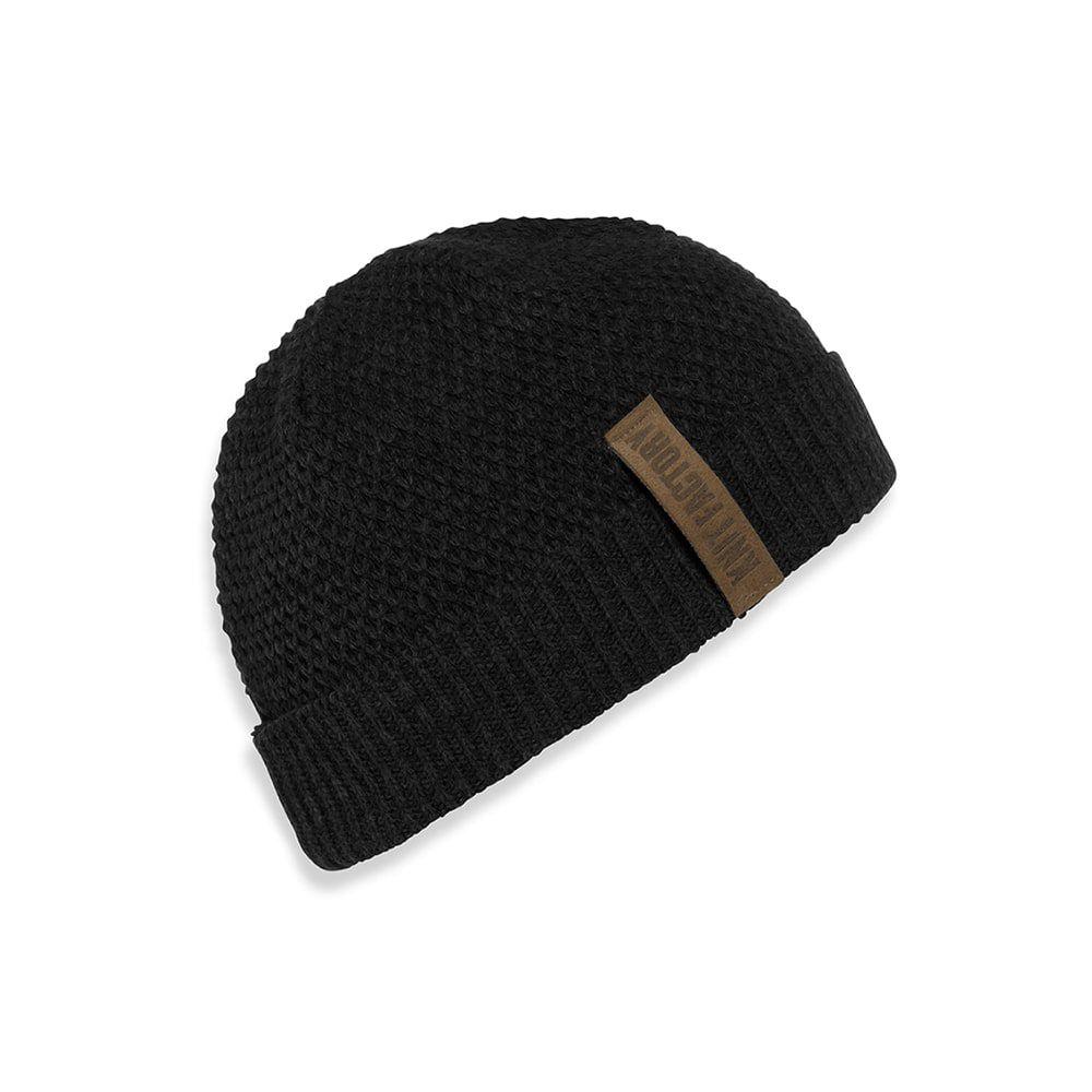 knit factory 1237000 jazz beanie zwart 1