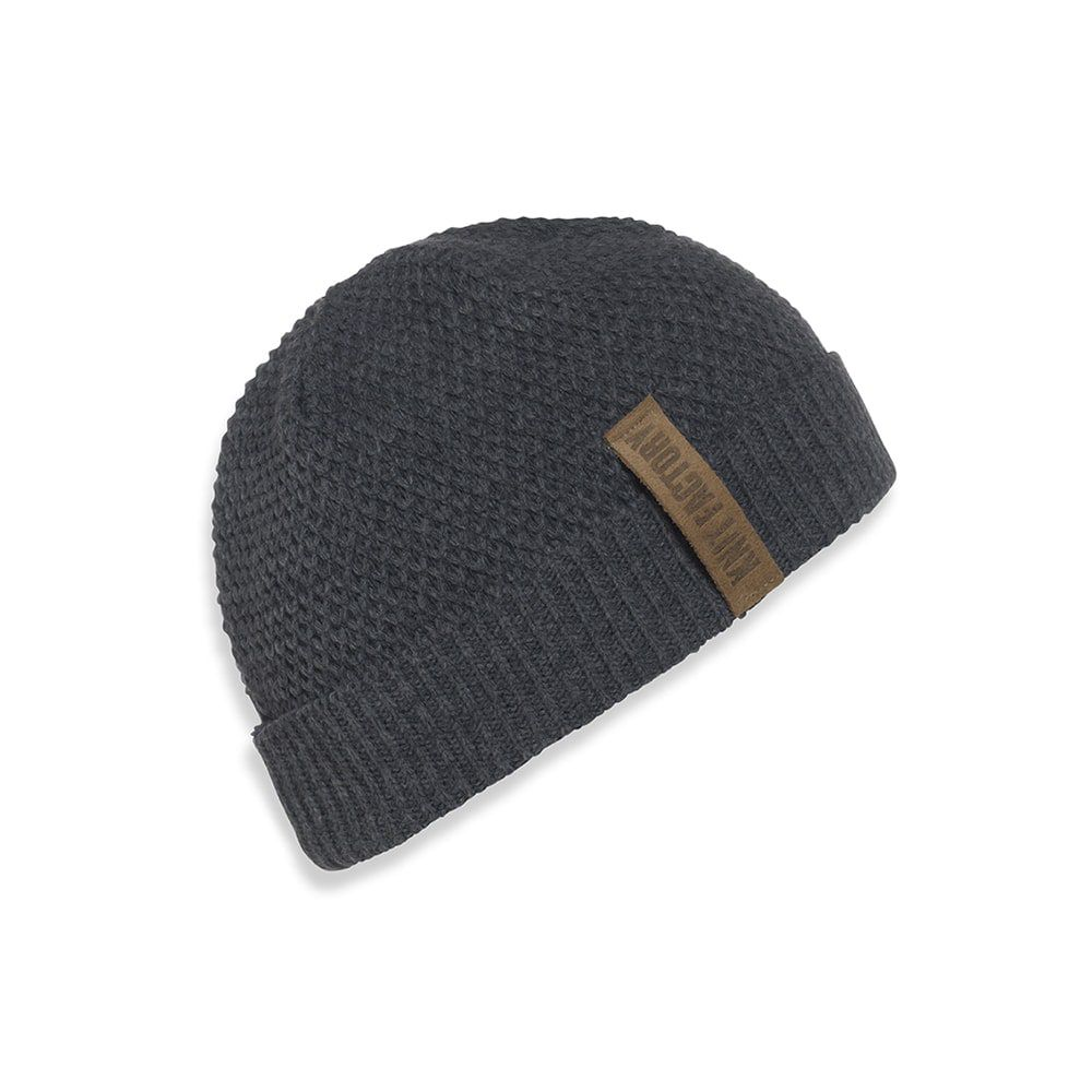 knit factory 1237010 jazz beanie antraciet 1