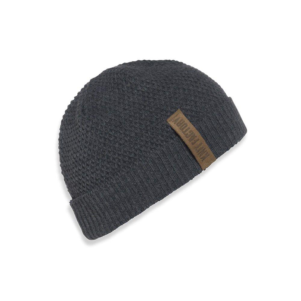 knit factory 1237010 jazz beanie antraciet 1