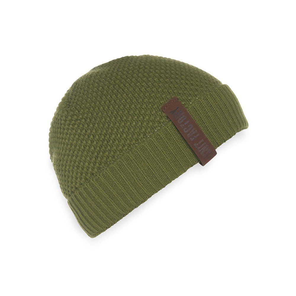 knit factory 1237015 jazz beanie mosgroen 1