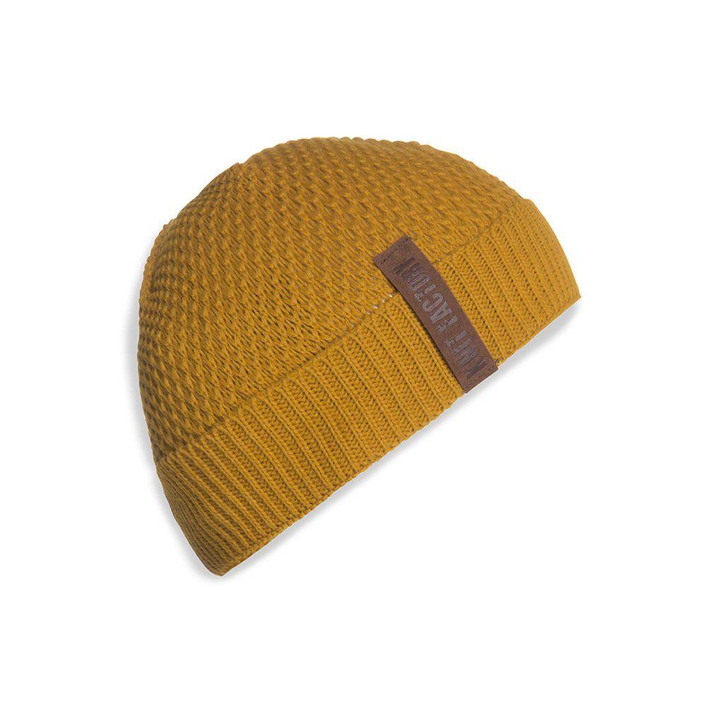 knit factory 1237017 jazz beanie oker 1