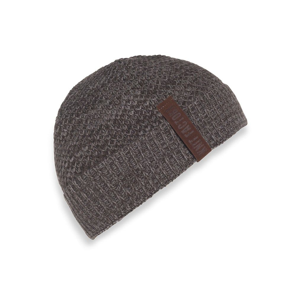 knit factory 1237048 jazz beanie bruin taupe 1