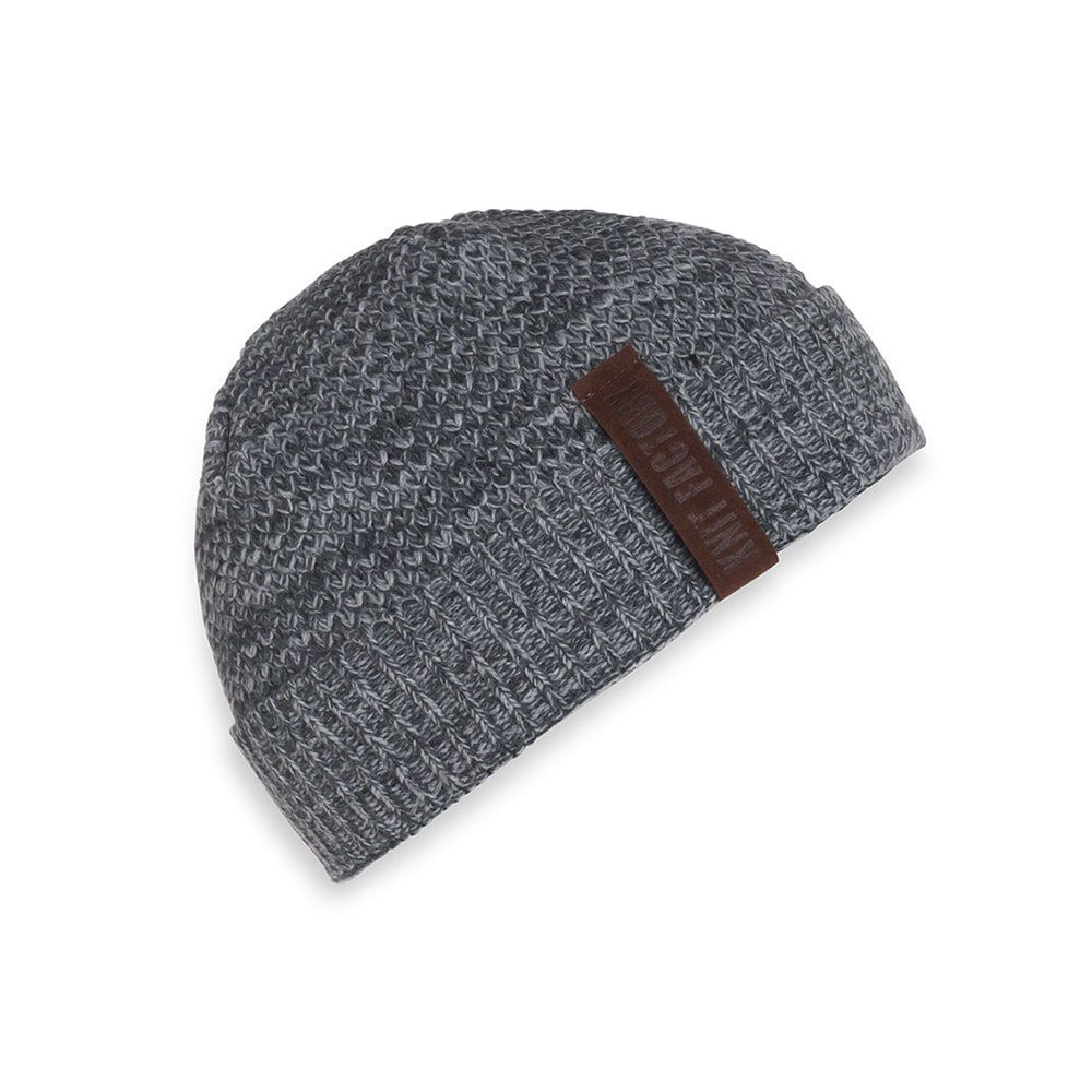 knit factory 1237050 jazz beanie antraciet grijs 1
