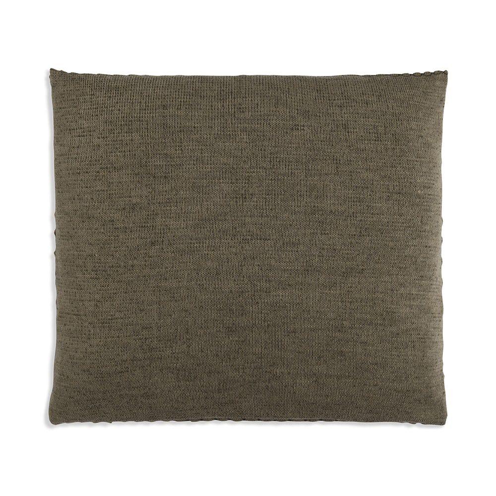 knit factory 1241244 kussen 50x50 juul groen olive 2
