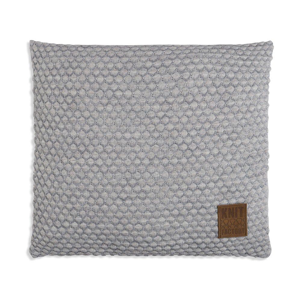 knit factory 1241249 kussen 50x50 juul licht grijs beige 1