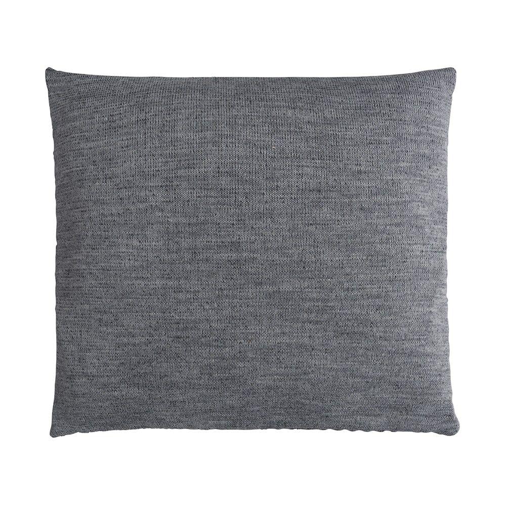knit factory 1241250 kussen 50x50 juul antraciet licht grijs 2