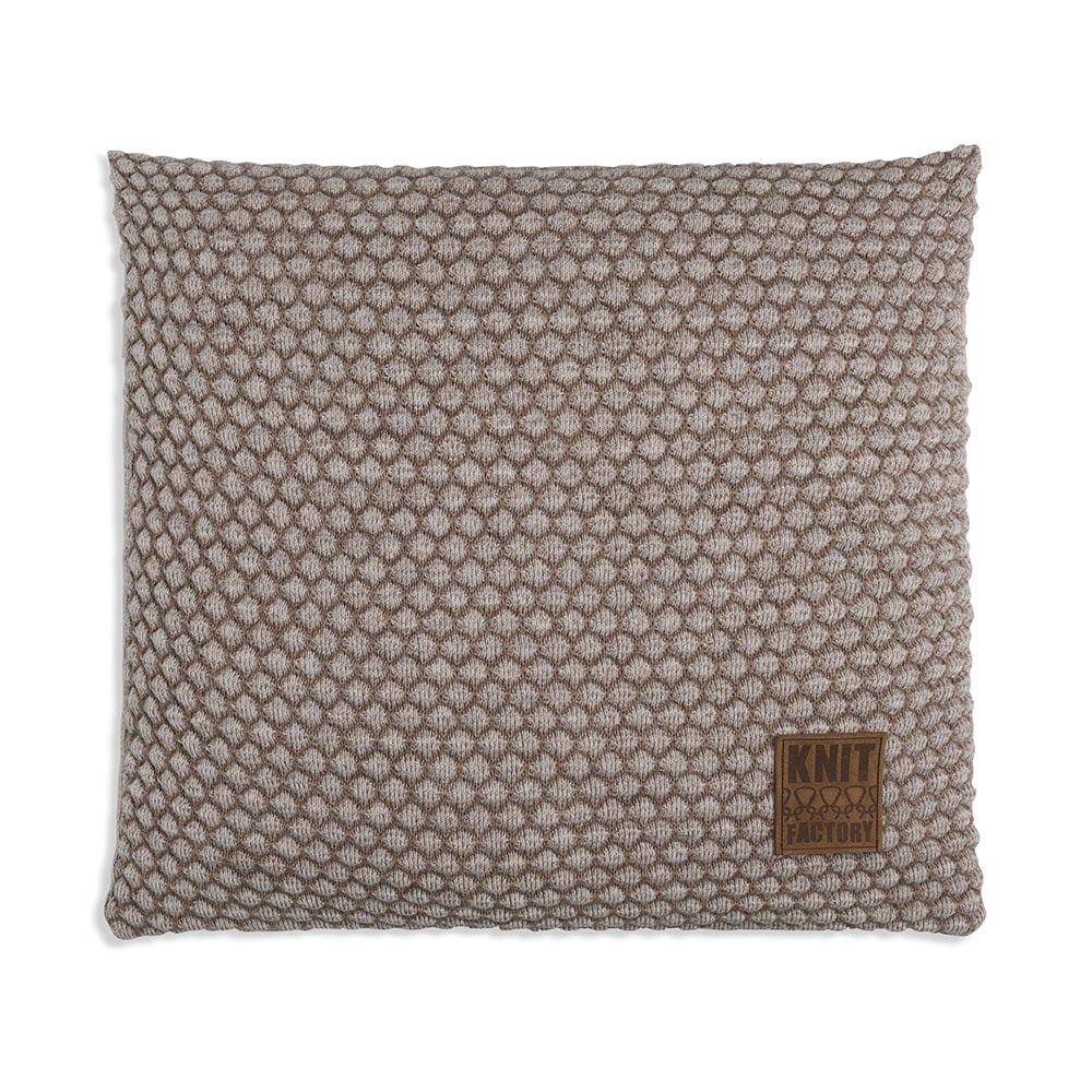 knit factory 1241253 kussen 50x50 juul marron beige 1