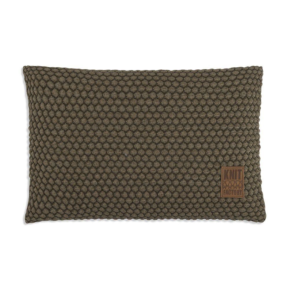 knit factory 1241344 kussen 60x40 juul groen olive 1