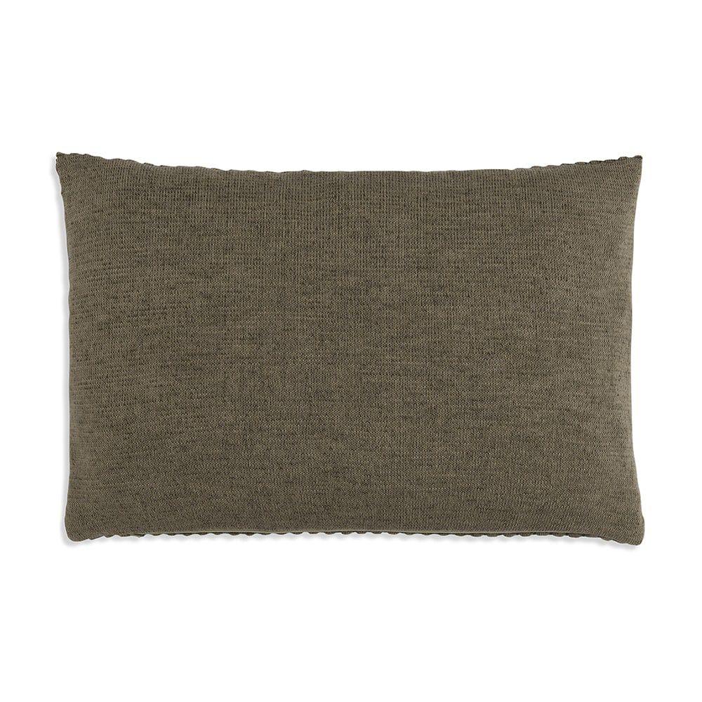 knit factory 1241344 kussen 60x40 juul groen olive 2