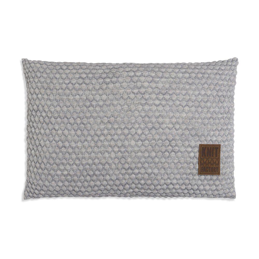 knit factory 1241349 kussen 60x40 juul licht grijs beige 1