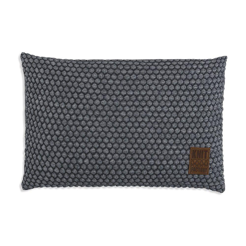 knit factory 1241350 kussen 60x40 juul antraciet licht grijs 1