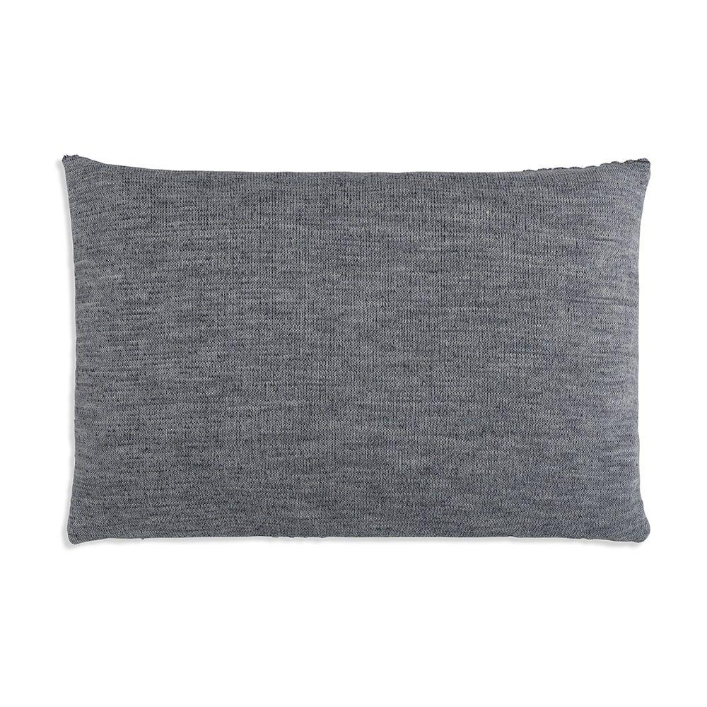 knit factory 1241350 kussen 60x40 juul antraciet licht grijs 2