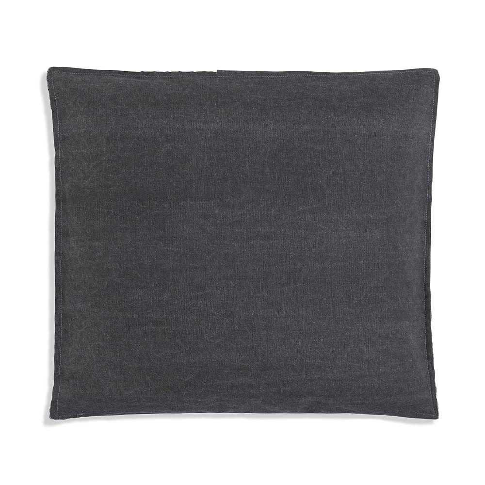 knit factory 1251250 kussen 50x50 jack antraciet licht grijs 2