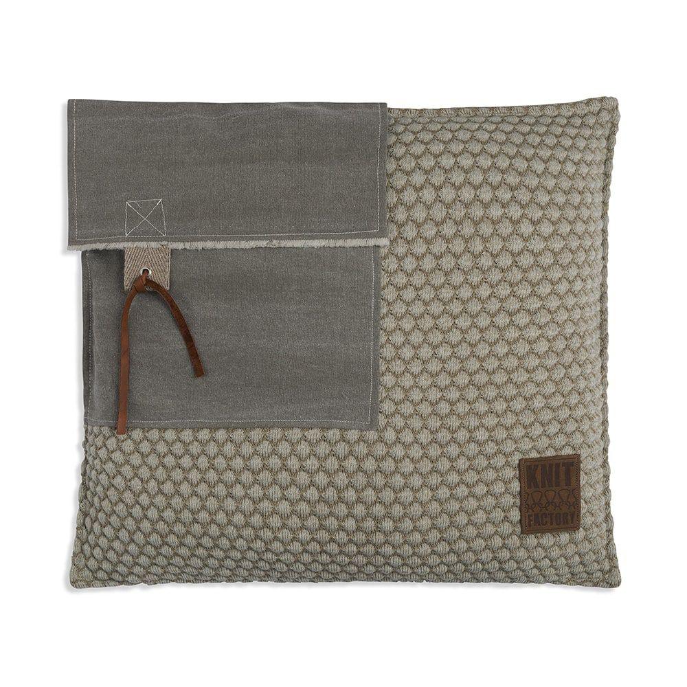 knit factory 1251257 kussen 50x50 jack seda olive 1