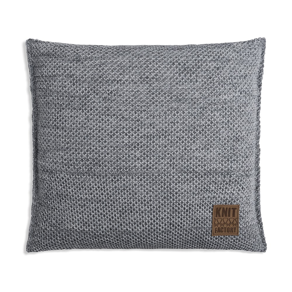 knit factory 1261201 kussen 50x50 zoe licht grijs melee 1