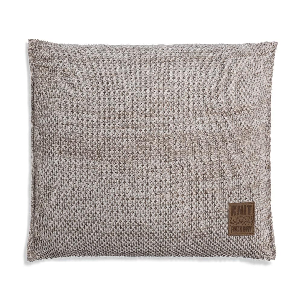knit factory 1261202 kussen 50x50 zoe beige melee 1