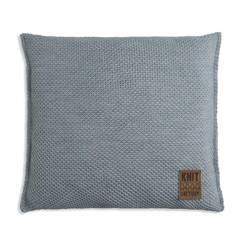 knit factory 1261289 kussen 50x50 zoe stone green melee 1