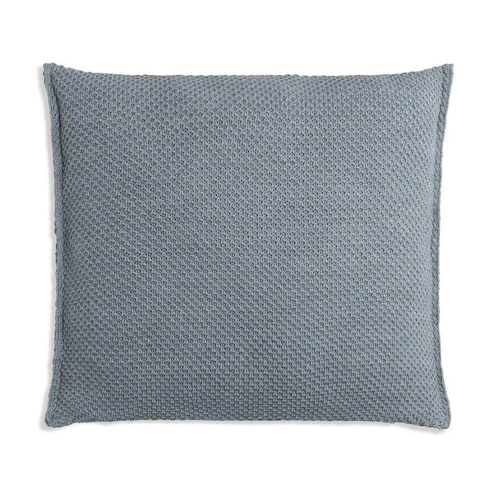 knit factory 1261289 kussen 50x50 zoe stone green melee 2