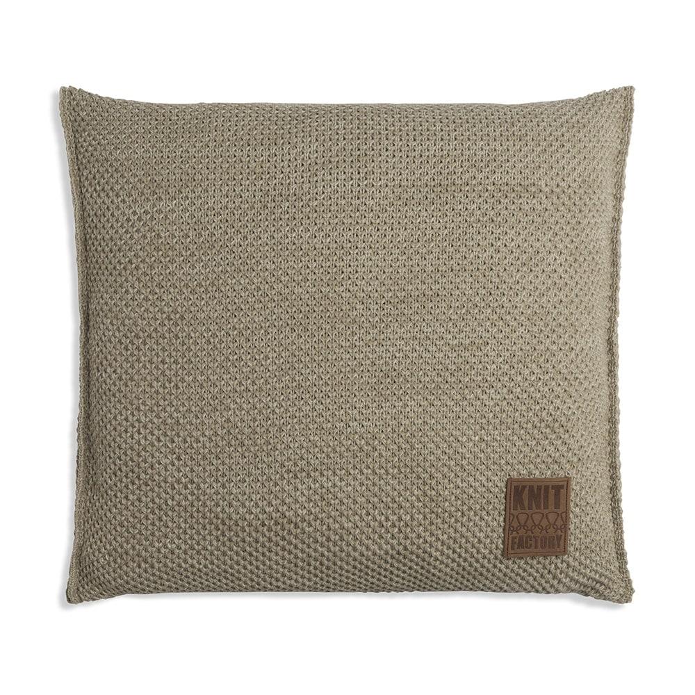 knit factory 1261293 kussen 50x50 zoe olive melee 1