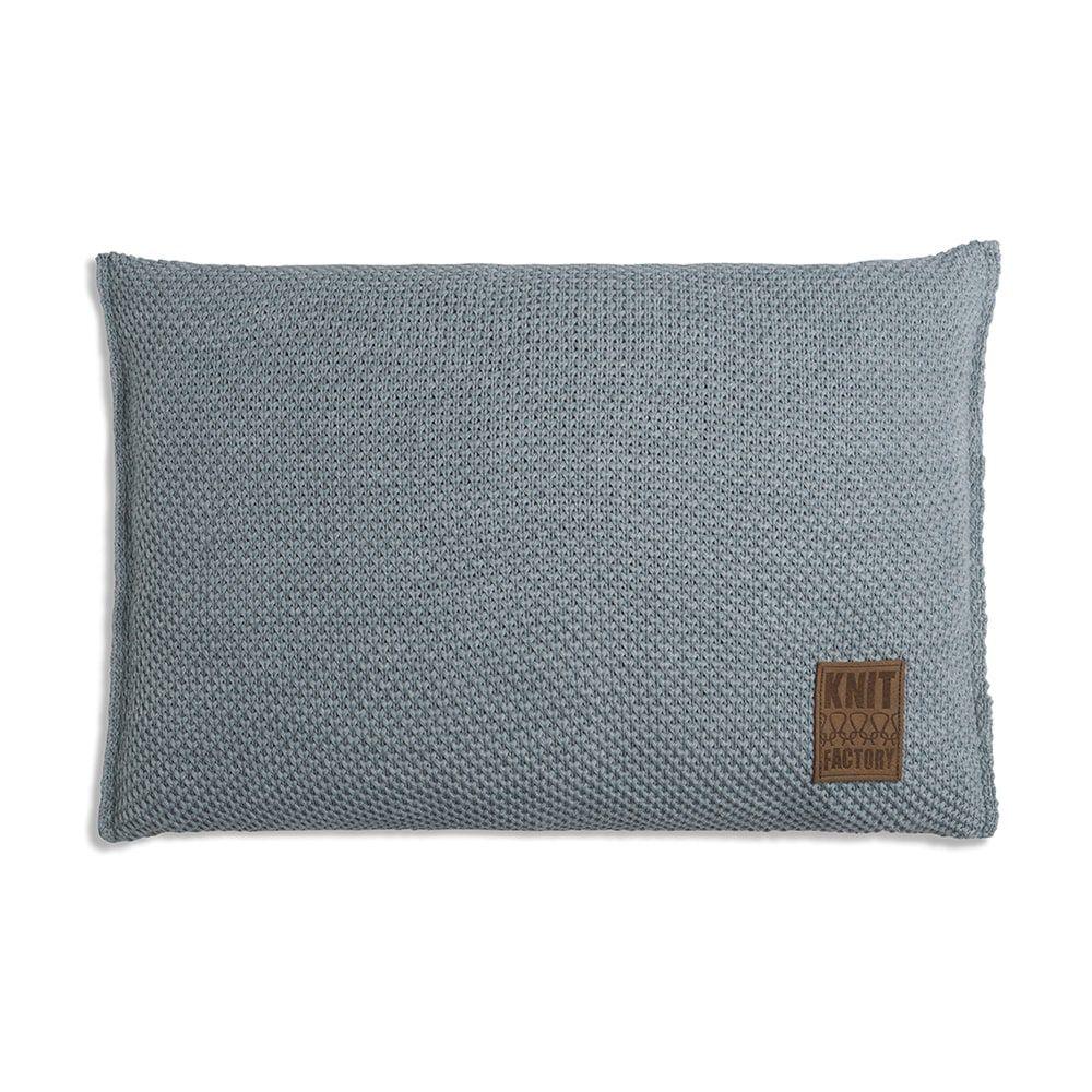 knit factory 1261389 kussen 60x40 zoe stone green melee 1