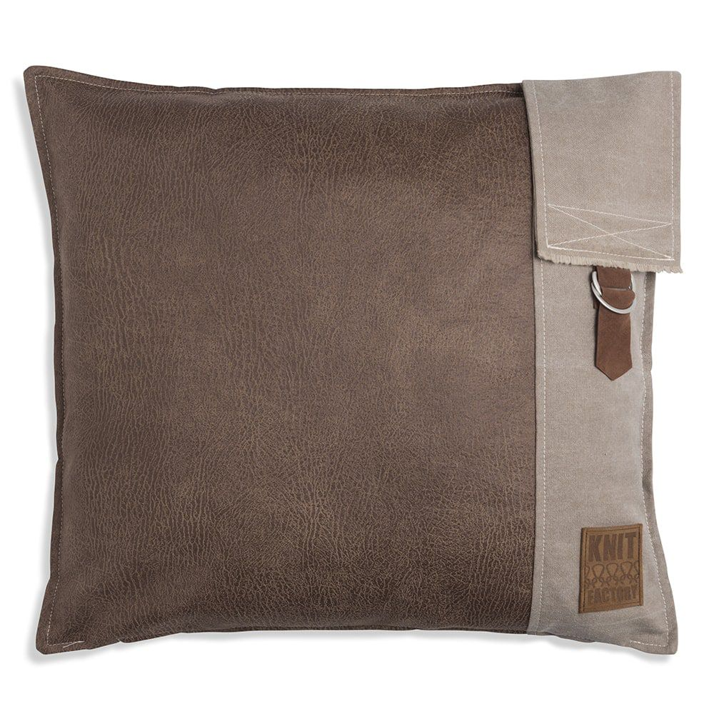 knit factory 1271229 kussen 50x50 luc taupe 1