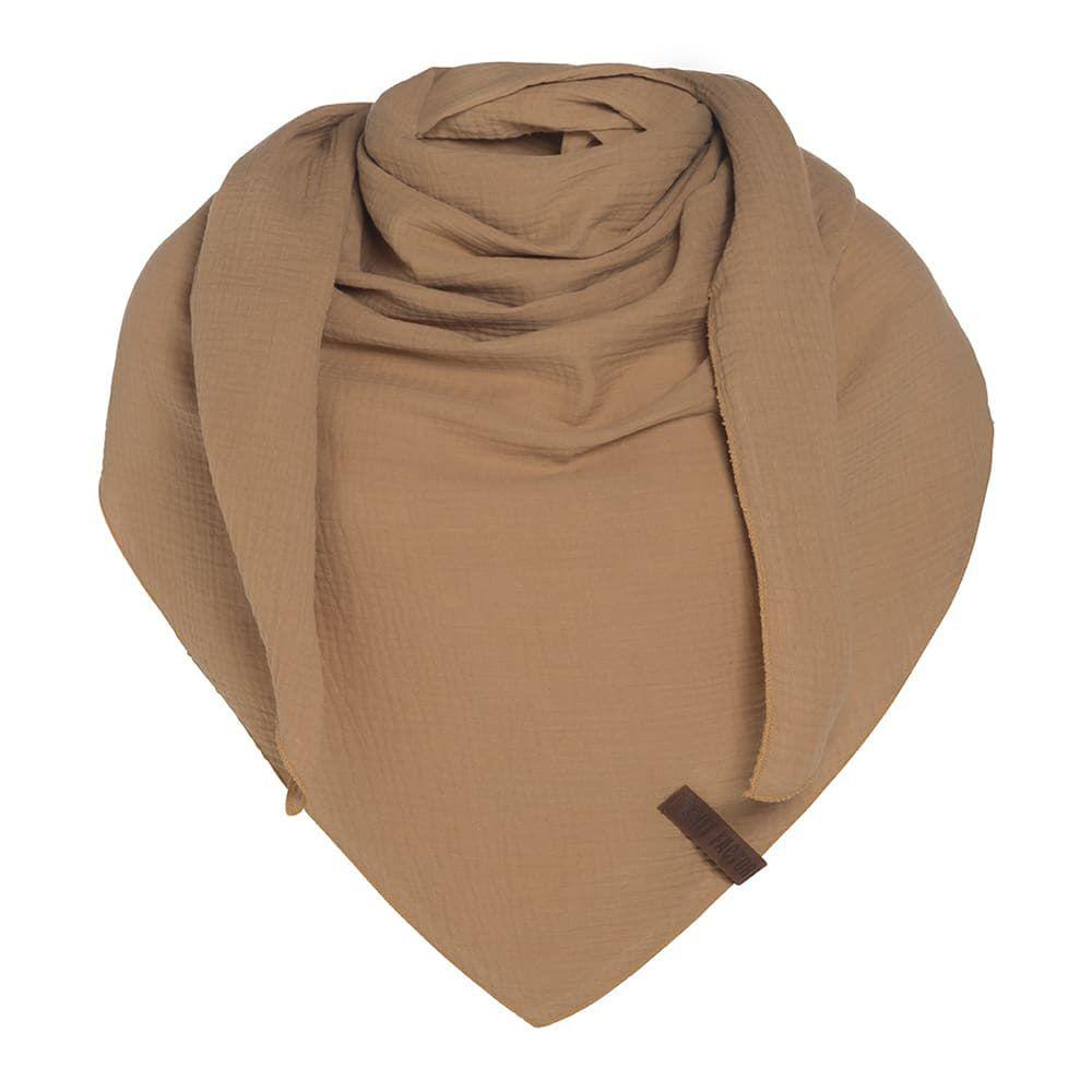 knit factory 1286020 liv omslagdoek new camel 1