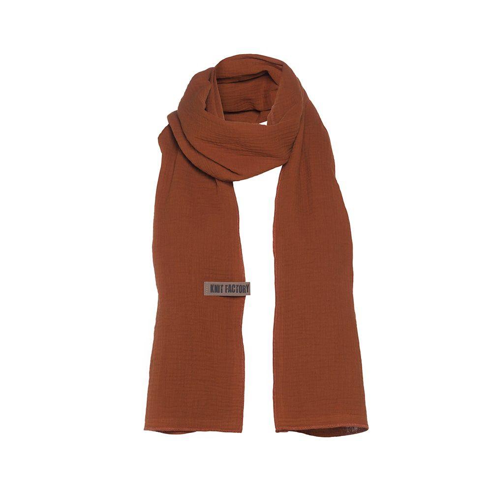 knit factory 1286516 liv sjaal terra 1
