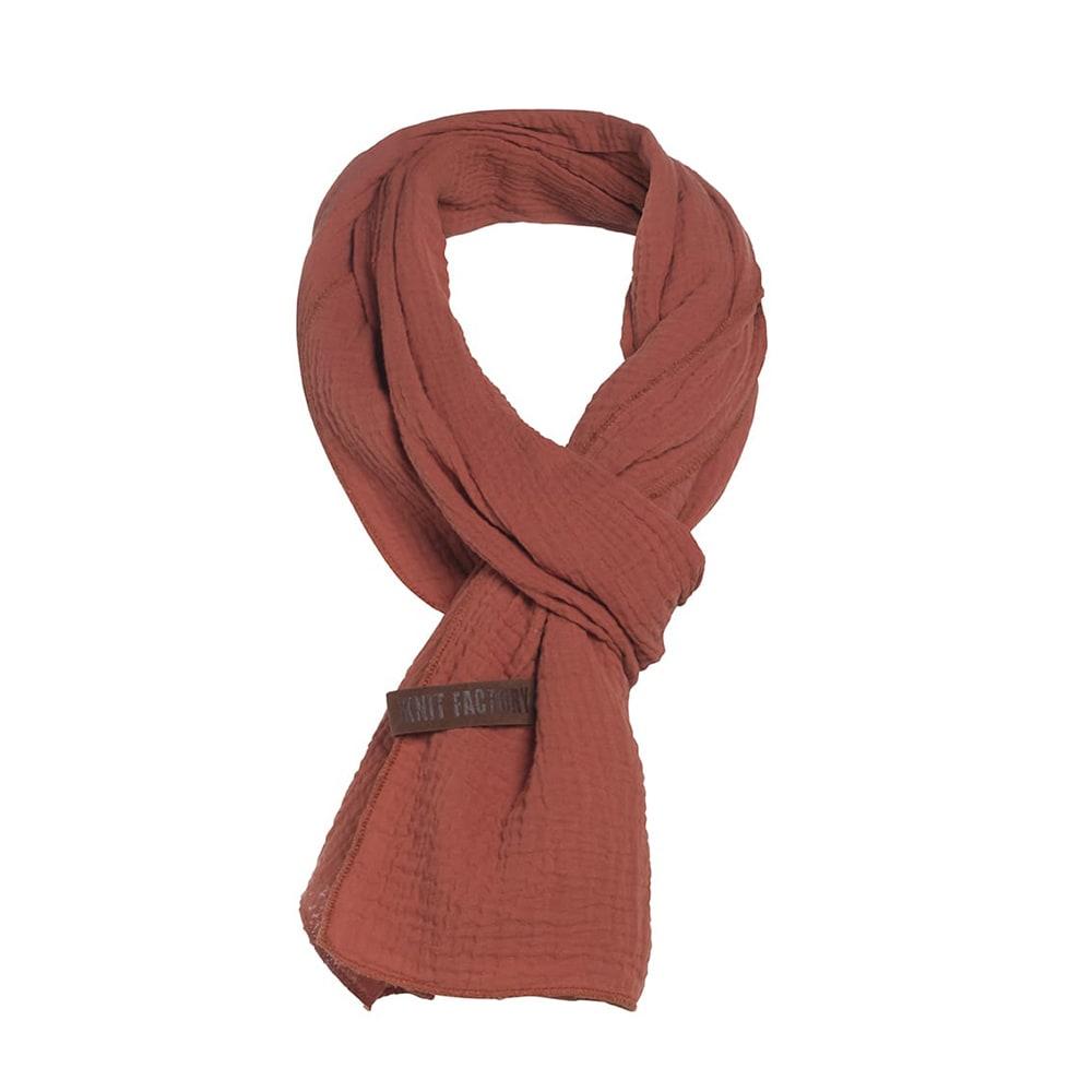 knit factory 1286516 liv sjaal terra 2