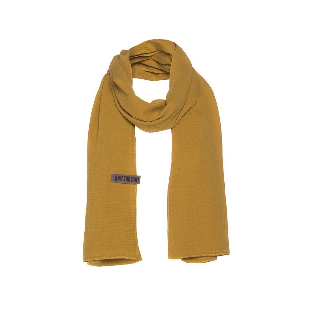 knit factory 1286517 liv sjaal oker 1