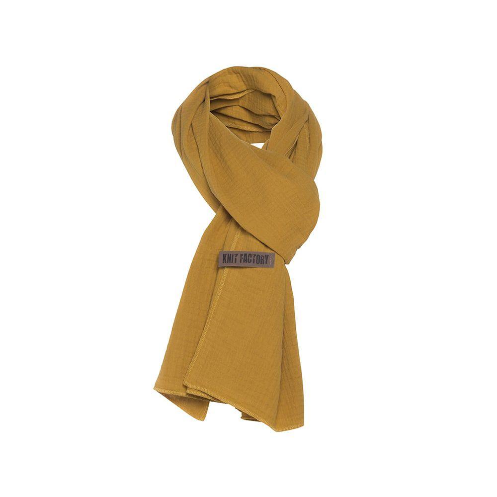 knit factory 1286517 liv sjaal oker 2
