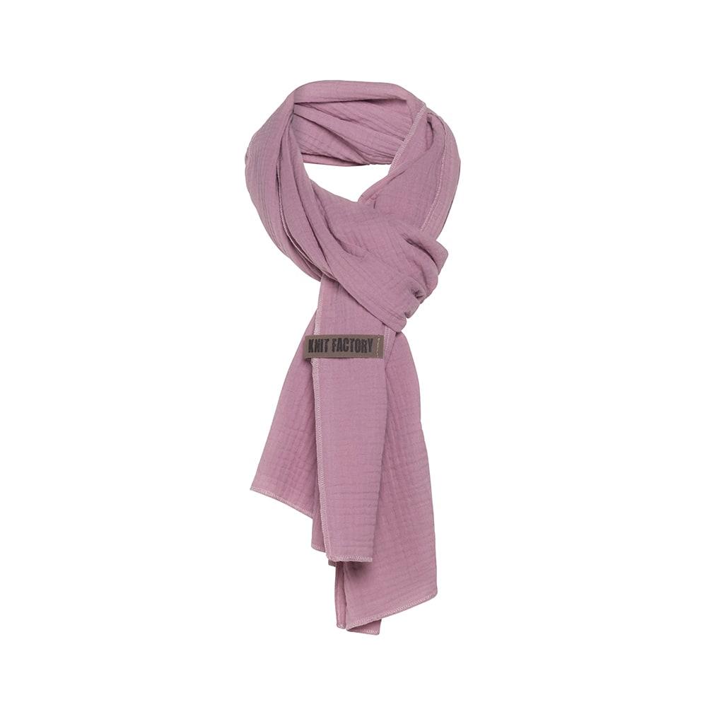 knit factory 1286527 liv sjaal lila 1