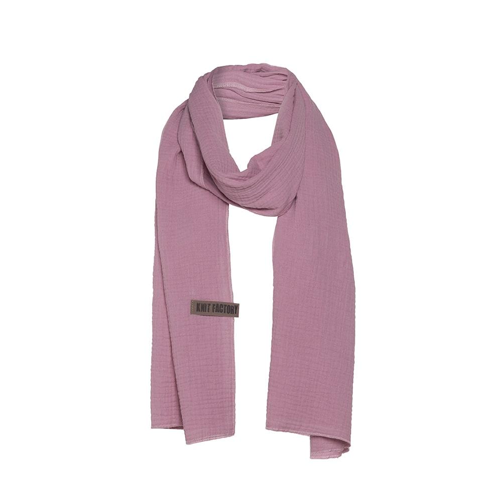 knit factory 1286527 liv sjaal lila 4