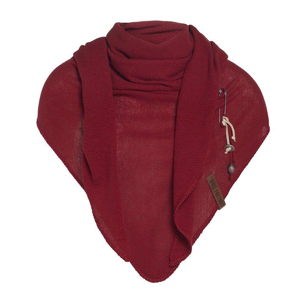 knit factory 1306003 lola omslagdoek bordeaux 1