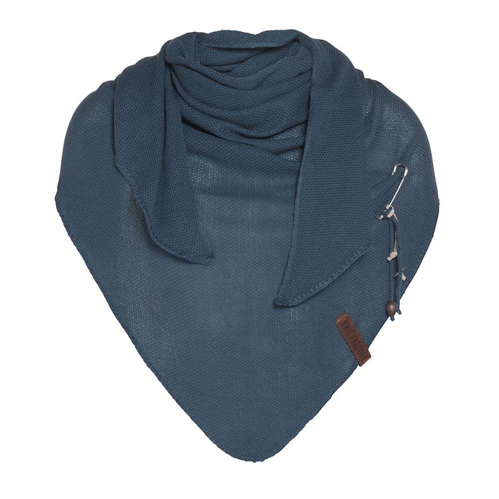 knit factory 1306008 lola omslagdoek petrol1