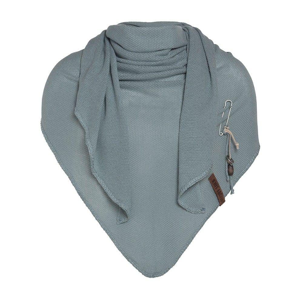 knit factory 1306009 lola omslagdoek stone green1